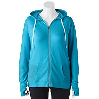 Juniors' Plus Size SO® Zip Up French Terry Hoodie