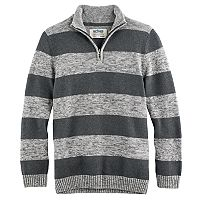 Boys 8-20 Urban Pipeline® Regular-Fit Striped Quarter-Zip Pullover