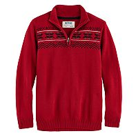 Boys 8-20 Urban Pipeline® Regular-Fit Snowflake Quarter-Zip Pullover