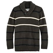 Boys 8-20 Urban Pipeline® Regular-Fit Striped Shawl-Collar Sweater