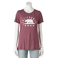 Juniors' California Grizzly Bear Graphic Tee