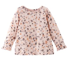 Baby Girl Jumping Beans® Printed Ruffled-Cuff Top