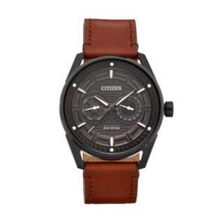 Drive From Citizen Eco-Drive Men's CTO Leather Watch - BU4025-08E