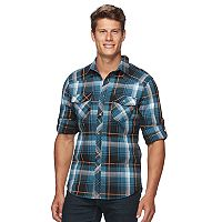 Big & Tall Rock & Republic Plaid Button-Down Shirt