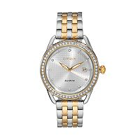 Drive From Citizen Eco-Drive Women's LTR Crystal Two-Tone Stainless Steel Watch - FE6114-54A