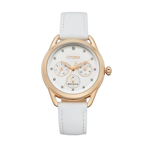 Drive From Citizen Eco-Drive Women's LTR Crystal Leather Watch - FD2053-04A
