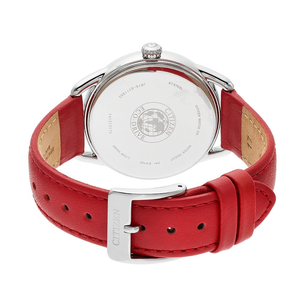 Drive From Citizen Eco-Drive Women's LTR Crystal Leather Watch