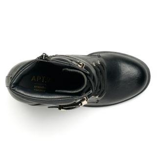 Apt. 9® Negotiate Women's High Heel Combat Boots