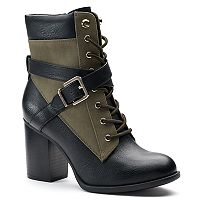 Apt. 9® Negotiate Women's High Heel Combat Boots