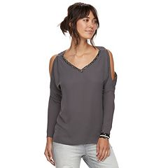Women's Juicy Couture Cold-Shoulder Embellished Top