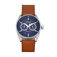 Drive From Citizen Eco-Drive Men's CTO Leather Watch - BU4020-01L