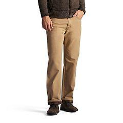 Men's Lee Flannel-Lined Straight-Leg Jeans