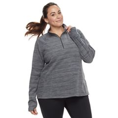 Plus Size Tek Gear Microfleece 1/4-Zip Pullover Top