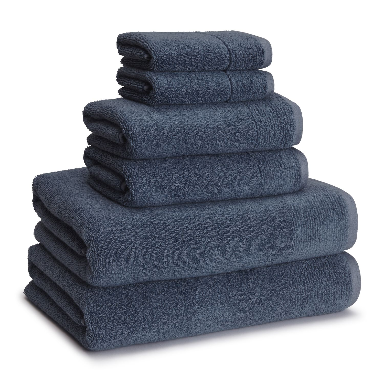 kassatex 6piece kyoto bath towel set - Kassatex