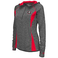 Women's Campus Heritage Georgia Bulldogs Money Quarter-Zip Top