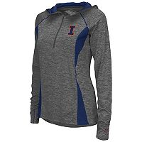 Women's Campus Heritage Illinois Fighting Illini Money Quarter-Zip Top