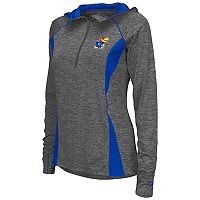 Women's Campus Heritage Kansas Jayhawks Money Quarter-Zip Top