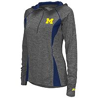 Women's Campus Heritage Michigan Wolverines Money Quarter-Zip Top