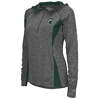 Women's Campus Heritage Michigan State Spartans Money Quarter-Zip Top