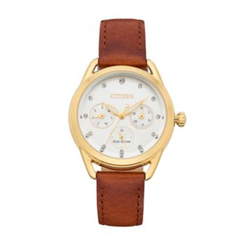 Drive From Citizen Eco-Drive Women's LTR Crystal Leather Watch - FD2052-07A