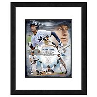 New York Yankees Derek Jeter Double-Matted & Framed 18
