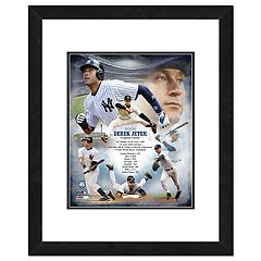 New York Yankees Derek Jeter Double-Matted & Framed 18' x 22' Action Collage