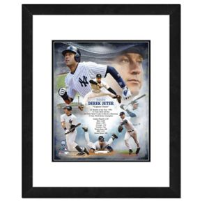 "New York Yankees Derek Jeter Double-Matted & Framed 18"" x 22"" Action Collage"