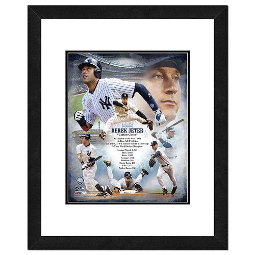 New York Yankees Derek Jeter Double-Matted & Framed 18
