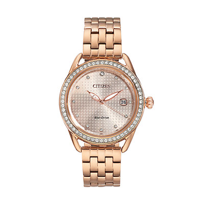 Drive From Citizen Eco-Drive Women's LTR Crystal Stainless Steel Watch