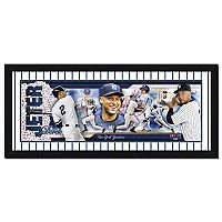 New York Yankees Derek Jeter Double-Matted & Framed 12