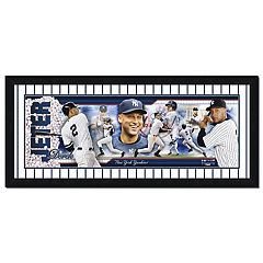 New York Yankees Derek Jeter Double-Matted & Framed 12' x 36' Photoramic