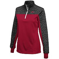 Women's Campus Heritage Arkansas Razorbacks Scaled Quarter-Zip Pullover Top