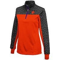 Women's Campus Heritage Clemson Tigers Scaled Quarter-Zip Pullover Top