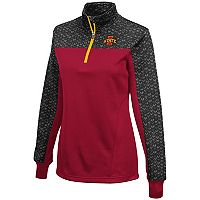 Women's Campus Heritage Iowa State Cyclones Scaled Quarter-Zip Pullover Top