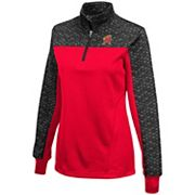 Women's Campus Heritage Maryland Terrapins Scaled Quarter-Zip Pullover Top