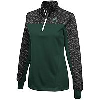 Women's Campus Heritage Michigan State Spartans Scaled Quarter-Zip Pullover Top