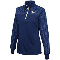 Women's Campus Heritage Pitt Panthers Scaled Quarter-Zip Pullover Top