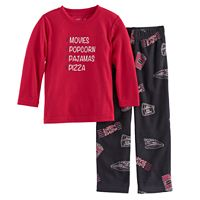 Toddler Boy Jammies For Your Families Movie Night Top & Fleece Bottoms Pajama Set