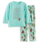 Toddler Boy Jammies For Your Families Holiday Cookies Top & Fleece Bottoms Pajama Set