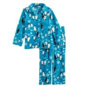 Toddler Boy Jammies For Your Families Penguin Pattern Button-Front Top & Bottoms Pajama Set