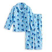 Toddler Boy Jammies For Your Families Hanukkah Polar Bear Button-Front Top & Bottoms Pajama Set