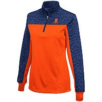 Women's Campus Heritage Syracuse Orange Scaled Quarter-Zip Pullover Top