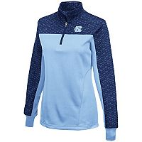 Women's Campus Heritage North Carolina Tar Heels Scaled Quarter-Zip Pullover Top