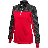 Women's Campus Heritage Wisconsin Badgers Scaled Quarter-Zip Pullover Top