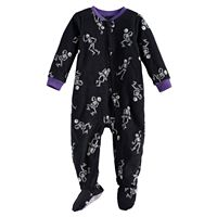 Baby Jammies For Your Families Skeleton Microfleece Footed Pajamas