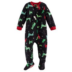 Baby Jammies For Your Families Holiday Dogs Microfleece Footed Pajamas
