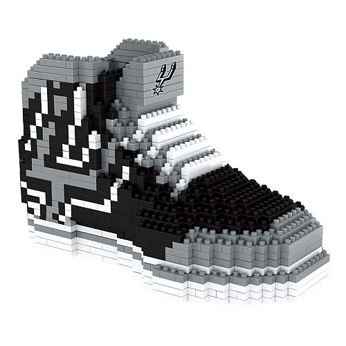 Forever Collectibles San Antonio Spurs BRXLZ 3D Sneaker Puzzle Set