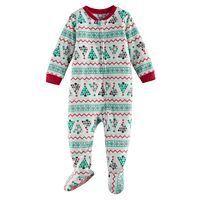Baby Jammies For Your Families Christmas Tree Microfleece Footed Pajamas