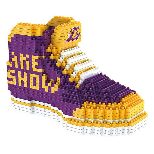 Forever Collectibles Los Angeles Lakers BRXLZ 3D Sneaker Puzzle Set