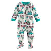 Baby Jammies For Your Families Retro Car Microfleece Footed Pajamas